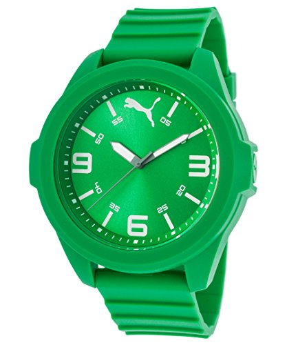(PUMA Men's 91131 Quartz Watch with Polyurethane Strap, Green, 20 (Model: PU911311004)