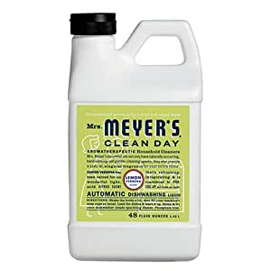 Mrs. Meyer's Clean Day Automatic Dishwashing Liquid, Lemon Verbena, 48-Ounce Bottles (Case of 6)