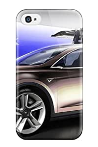 Defender Case With Nice Appearance (tesla Model S 14) For Iphone 4/4s