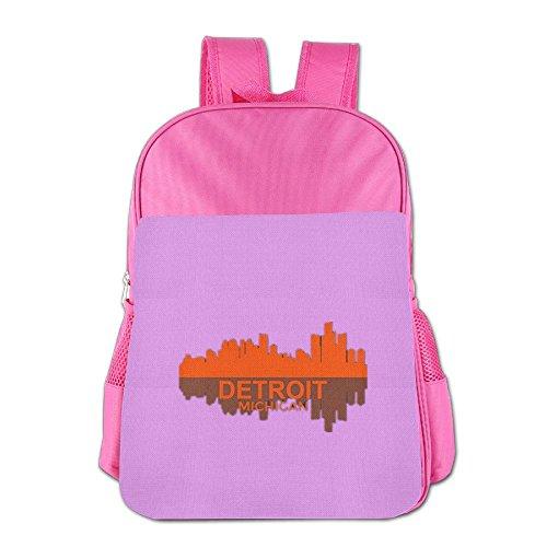 State Logo Backpack (Hometown Pride, State Pride Little Kids School Bag Funny Logo Backpack Pink)