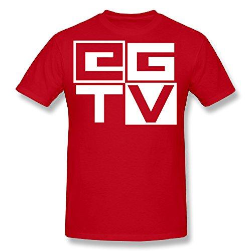 HSTee Men's EthanGamerTV Logo T-shirt Red