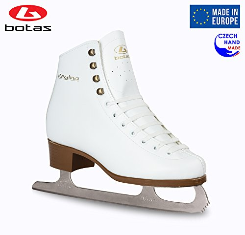 Botas - Model: Regina/Made in Europe (Czech Republic) / Ice Skates for Women, Girls/Nicole Blades/Color: White, Size: Adult 7.5