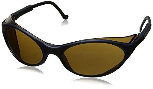 Uvex S1623 Bandit Safety Eyewear, Slate Blue Frame, Espresso Ultra-Dura Hardcoat (Halloween Bandit)