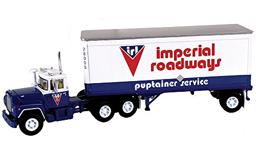 First Gear 1/64 scale Diecast Collectible Imperial Roadways, LTD. Mack R with 28' Pup Trailer (#60-0265) ()