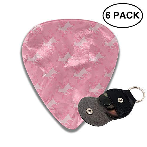 Colby Keats Guitar Picks Plectrums Free Reindeer Classic Electric Celluloid Acoustic for Bass Mandolin Ukulele 6 Pack 3 Sizes .96mm
