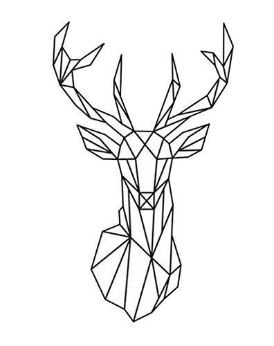 Gofan Removable Geometric Deer Head Living Room Bedroom Kids Room Decal SCHOOL Wall Sticker Window Glass - Lil Jon Glasses