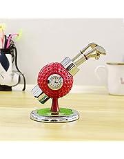 Crestgolf - Soporte para bolígrafo con 3 bolígrafos en Forma de Palo de Golf, un Reloj incrustado y Campo de Golf