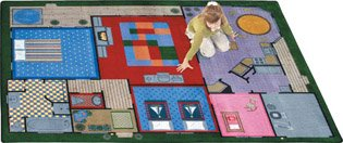 Rug Creative Playhouse - Creative Play House Rug - 5.33 Foot x 7.67 Foot Rectangle