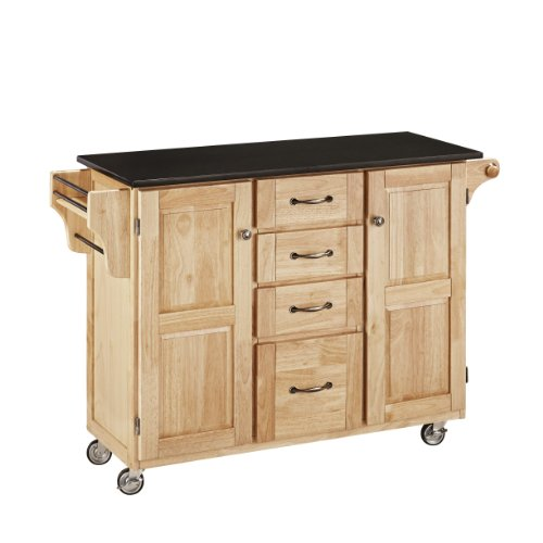 Home Styles 9100-1014 Create-a-Cart 9100 Series Cuisine Cart with Black (Black Natural Kitchen Cart)