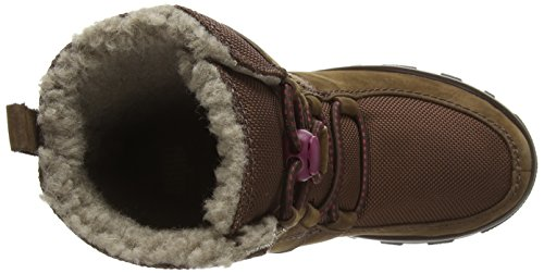 Fitflop Sporty Lace Up Mukluk - botas de cuero mujer marrón - Brown (Chocolate Brown)