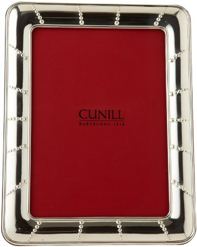 Cunill Silver Solar  Frame In .925 Sterling Silver, with Wood-Look Back and Easel For 8-Inch by 10-Inch Photograph by Cunill Silver