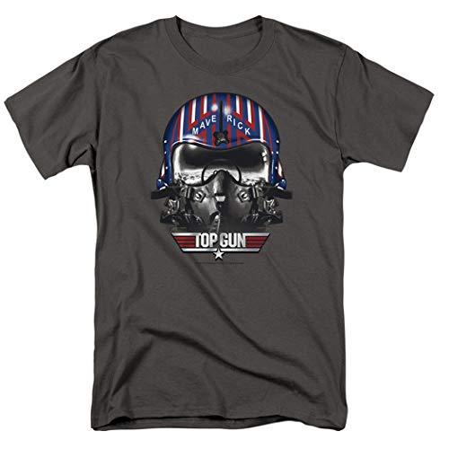 Top Gun Maverick Helmet T Shirt & Stickers (X-Large) Charcoal