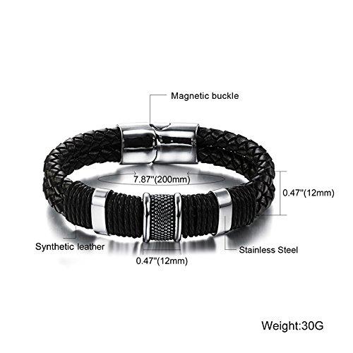 Bangle Bracelet 22cm en acier inoxydable Bijoux Bracelets Hommes Bracelet en cuir hommes bracelet en cuir acier inoxydable bracelet pour les hommes M