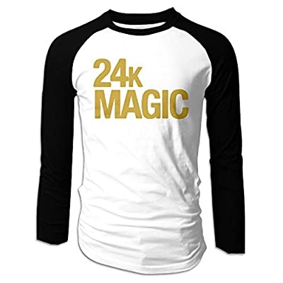 Bruno Mars New Single 24K Magic Man Long Sleeve Raglan T-Shirts Baseball