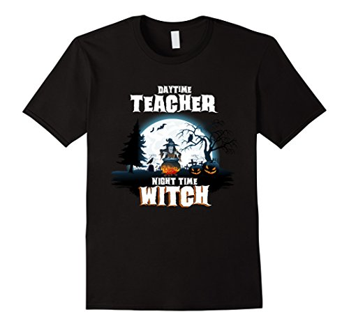 Jack Black School Of Rock Costume (Mens Teacher Witch By Night Halloween Costume T-Shirt 3XL Black)