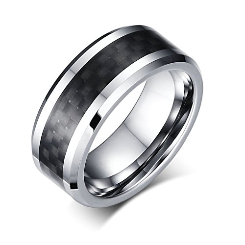 aooaz-boys-mens-stainless-steel-ring-silver-black-carbon-fiber-beveled-edge-wedding-band-punk-retro