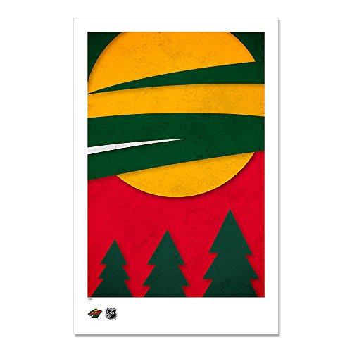 Minnesota Wild - Minimalist NHL Logo Art Poster Print (11X17 ()