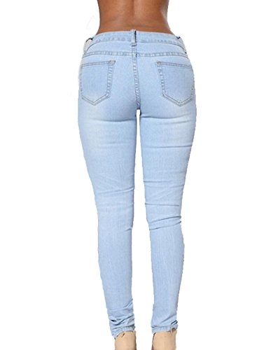 Desgastados Gladiolus Up Pantalon Elasticos Push Pantalones Zarco Vaqueros Lavado Mujer Jeans rqFArw8