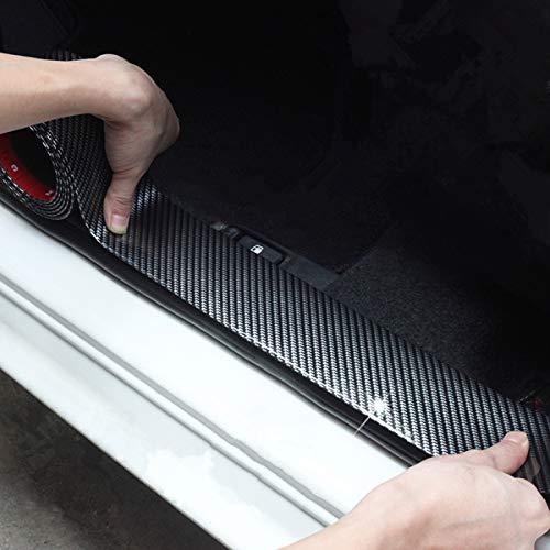 COOL·CAR Universal Door Guard Bumper,Rear Bumper Guard Rubber Rear Guard Bumper Protector, Front Rear Door Entry Sill Guard Scuff Plate Protectors Most Cars 100% Waterproof (width7CM long2.5M)...