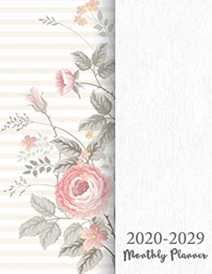 2020 - 2029 Monthly Planner: Floral Modern Cover | 2020-2029 ...