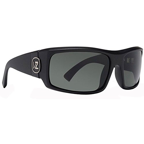 VonZipper Kickstand Shift Into Neutral Men's Sunglasses - Black Satin/Grey / OS (Sunglasses Racewear)
