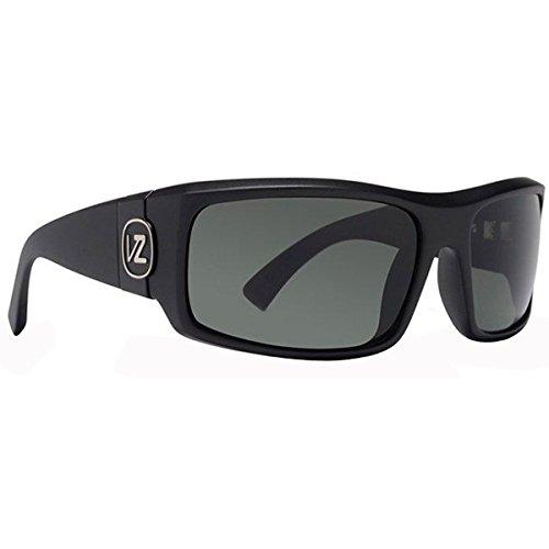 VonZipper Kickstand Shift Into Neutral Men's Sunglasses - Black Satin/Grey / - Sunglasses Amo