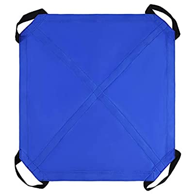 "Fushida Medical Transfer Banket with 4 Durable Handles,Waterproof Transfer Sheet Transfer Cushion for Lifting,Turning and Movement, Durable,Reusable,Washable, Size 42""x36"" Weight Capacity 250 lbs.F528"