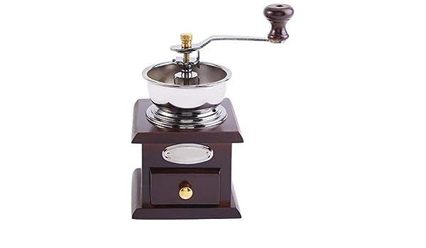 Molinillo de caf/é manual antiguo caf/é dise/ño retro Grano de caf/é Molinillo manual Molino de mano Hogar Cocina Oficina Accesorios de caf/é