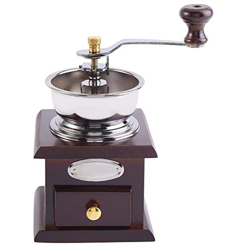 Vintage manual coffee grinder retro style Manual coffee grinder Coffee bean hand grinder with additional storage jar Mini coffee grinder Home office decoration(2#)