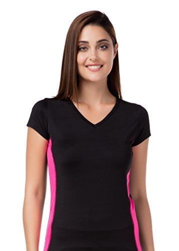 stylenmore - Camisa deportiva - Rayas - para mujer negro