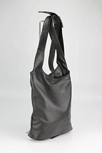 Belli - Bolso de hombro de cuero mujer negro
