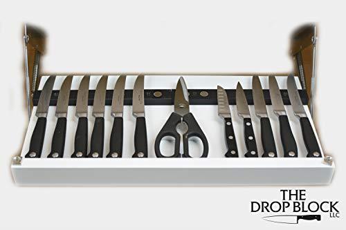 Under Cabinet Steak & Paring Knife Storage Unit (White) by The Drop Block (Image #3)