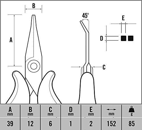 becs coud/és Noir C.K T3892 Pince de pr/écision Demi-Ronds