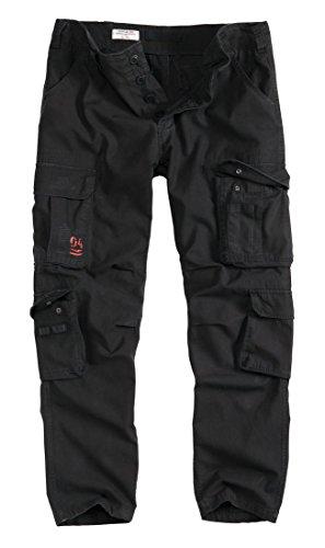 Surplus Airborne Slim Fit–Pantalón de combate ejército Vintage Work Wear pantalones negro