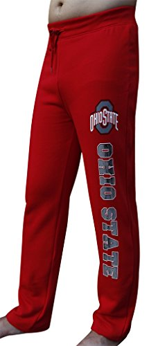 Men's Ohio State Buckeyes Vintage Sporty Sweatpants Pajamas Trousers - Red (Size: XL)