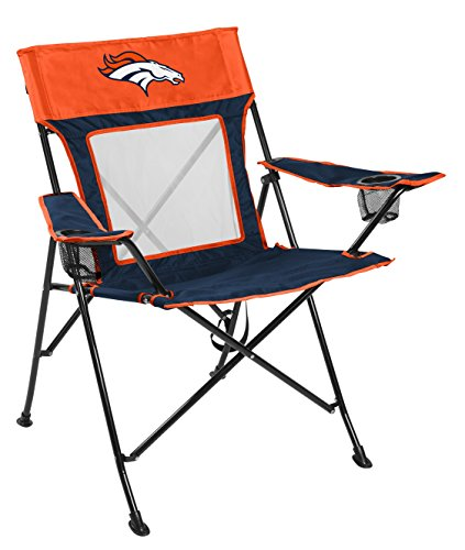Rawlings NFL Game Changer Large Folding Tailgating and Camping Chair, with Carrying Case, Denver Broncos