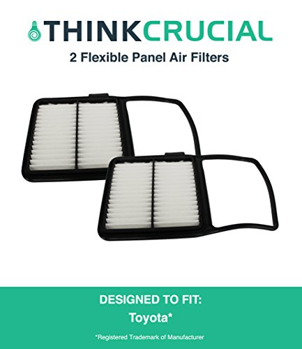 "2 Replacements for Toyota Rigid Panel Air Filter Fits Prius Hybrid, Maximum Air Flow, 1.04"" x 7.34"" x 11.35"" in., Compatible With Part # A25698 & CA10159, by Think Crucial"