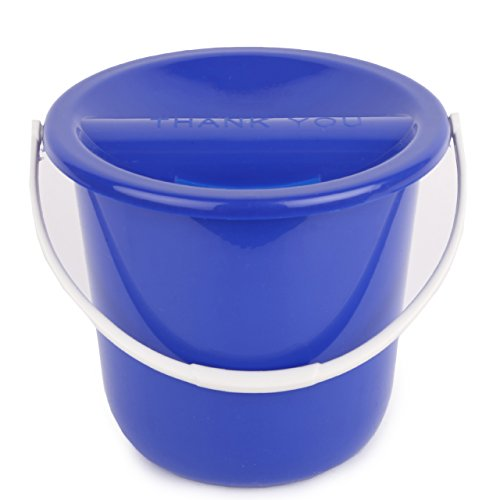 Collection Bucket - MCB Plastic Street Charity Donation Coin Collection Bucket (Variety, 4 Pack)