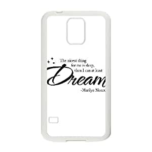 Customized Cover Case with Hard Shell Protection for SamSung Galaxy S5 I9600 case with Marilyn Monroe Quotes Queer908122