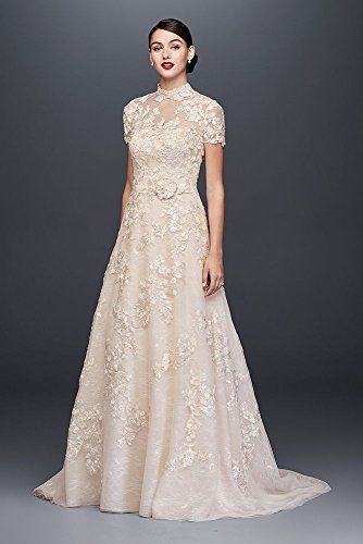 Wedding Topper Ivory Style Dress Solid A Appliqued Line CWG790 Lace zW1nta