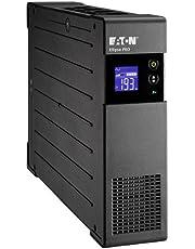 Eaton Ellipse PRO 1200 DIN - Fuente de alimentación ininterrumpida (SAI) 1200 VA con protección de sobrevoltaje (8 salidas Schuko) y regulación de voltaje (AVR).