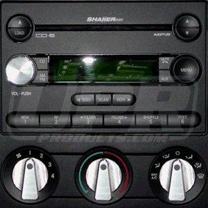 UPR 2005-2009 Mustang Billet Shaker Radio Knob Satin
