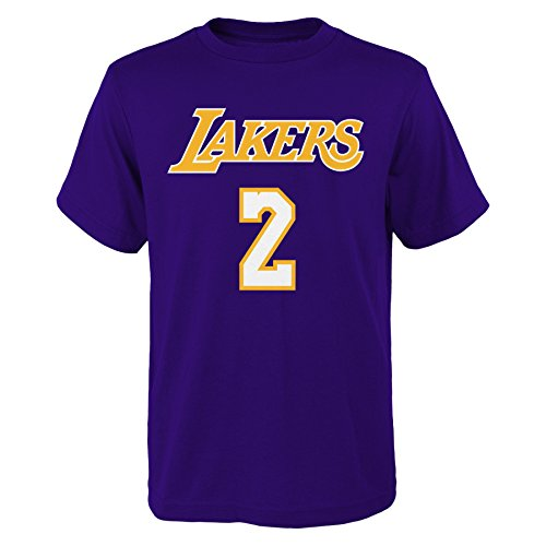 e8a84ce1820 Lonzo Ball Los Angeles Lakers Youth Purple Name and Number Player T-shirt  Medium 10-12