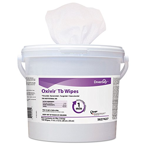 diversey-5388471-oxivir-tb-disinfectant-wipes-6-x-7-white-60-canister-12-canisters-carton