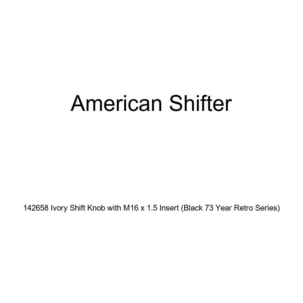 American Shifter 142658 Ivory Shift Knob with M16 x 1.5 Insert Black 73 Year Retro Series
