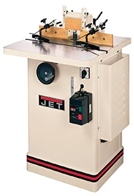 JET 708322 JWS-25CS 1/2-Inch and 3/4-Inch Interchangeable Spindle 3 Horsepower Shaper