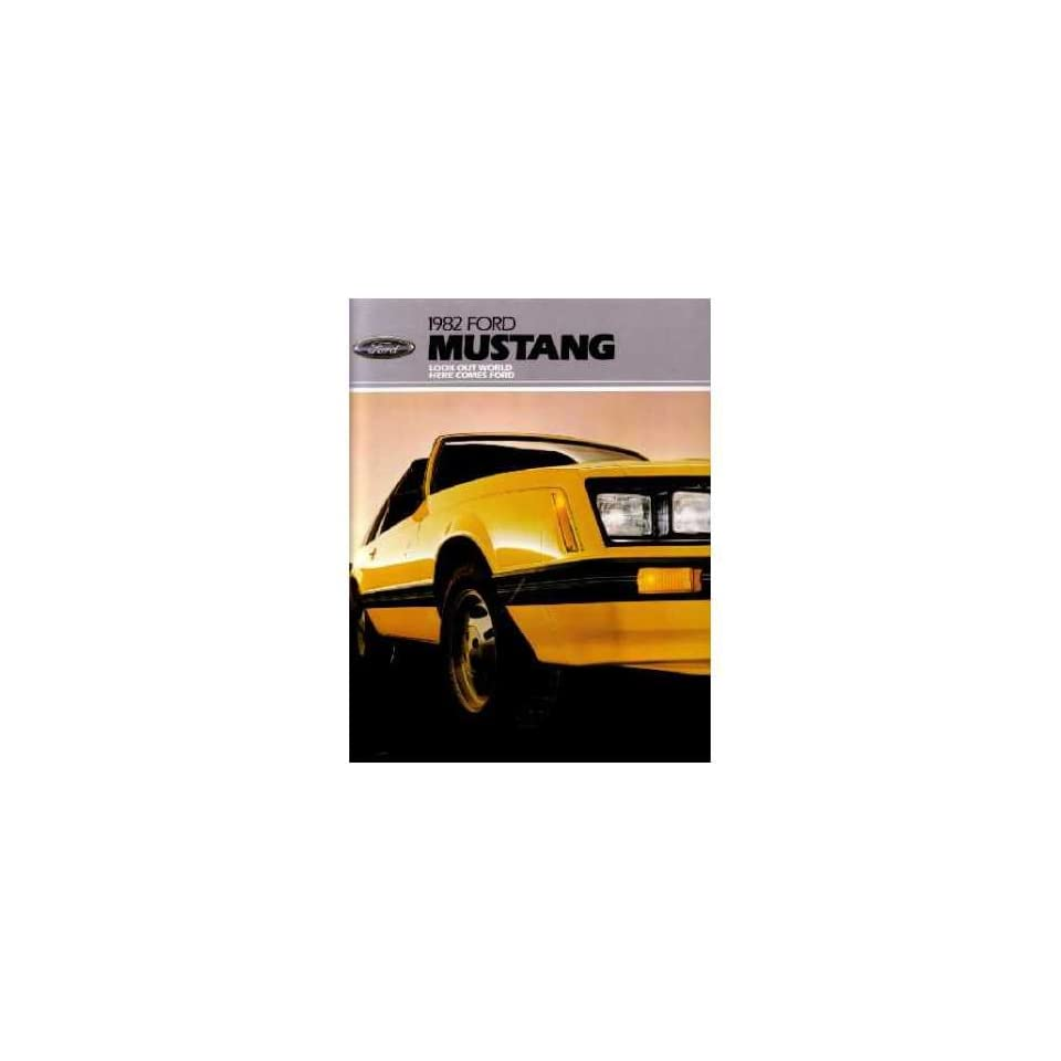 1982 Ford Mustang Sales Brochure Literature Book Piece Dealer Advertisement