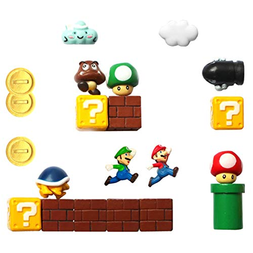 HXDZFX Super Mario Fridge Magnets - 20 PCS Refrigerator Magnets,Office Magnets,Calendar Magnet,Whiteboard Magnets,Christmas Magnets,Perfect for Ornaments Decoration collectionism