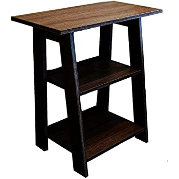 Amazon Com Homeconcept 11450 Ladder Chairside End Table