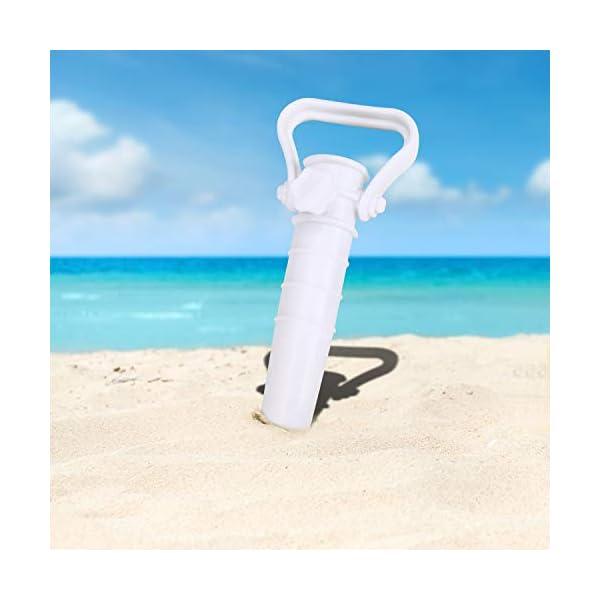 Beabro 2 Pezzi Picchetto di Supporto per ombrellone Mare Spiaggia Vacanze Sole Giardino Punta Terra Sabbia Trivella… 4 spesavip